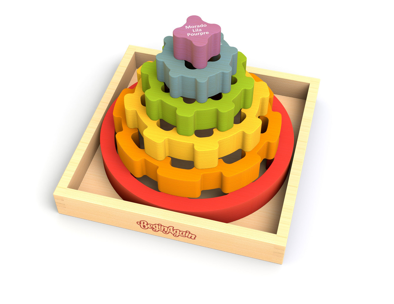 Stacking Toy Puzzles : Begin again toys gear stacker stacking rings
