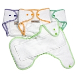 Imse Vimse Organic Terry Contour Diapers Preemie 4-pack
