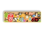 Begin Again Toys The Farm A To Z Puzzle & Playset - New!