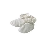 Sckoon Organic Cotton Baby Booties White with Frill