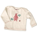 Sckoon Organic Cotton Tee Shirt Pink Penguin