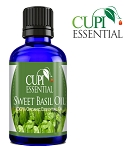 Cupi Essential Sweet Basil Oil 10mL / .3oz