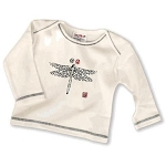 Sckoon Organic Cotton Long Sleeve Tee Shirt Navy Dragonfly