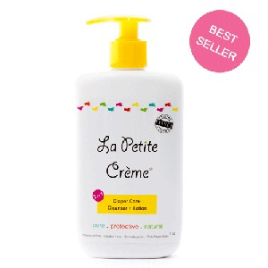 La Petite Creme ORIGINAL FRENCH DIAPERING LOTION  Everyday Bottle with Pump (8 oz)