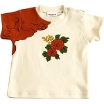 Sckoon Organic Cotton Peony Flower Baby & Toddler Tee