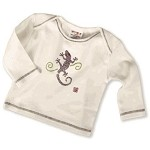 Sckoon Organic Cotton Long Sleeve Tee Shirt Purple Gekko