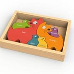 Begin Again Toys Cat Family Puzzle