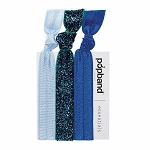 popband Hairband set of 3 - Glitterball Blue