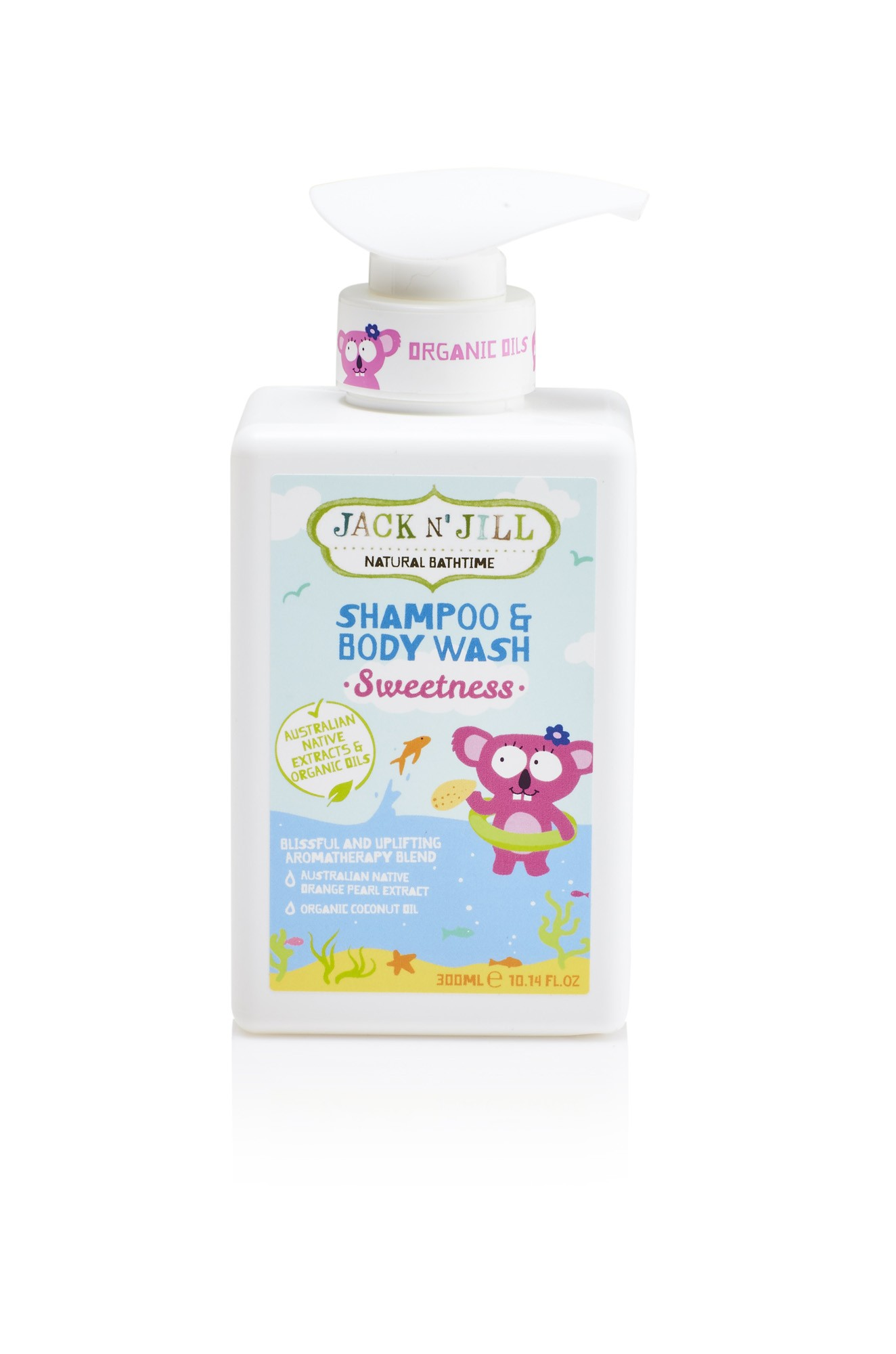Jack N Jill Kids Sweetness Shampoo Body Wash Natural Bath Time Beauty Cleansing Foam