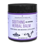 Sweetbottoms Naturals - All-Natural Soothing Herbal Balm for Diaper Rash and Skin Irritation 4oz