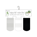 Squid Socks - Casey Collection (Dark Heather Grey, White, & Black Solids)