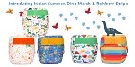TotsBots EasyFit One Size All-In-One Reusable Cloth Diaper frugi Prints