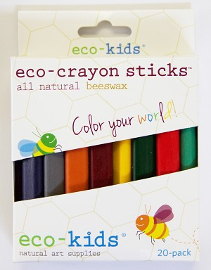 eco-kids eco-crayons sticks 20pk