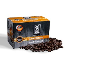 Rooted Grounds Coffee Co. Single Cup 12pk - Caramel Cream
