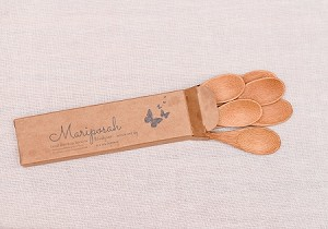 Mariposah Bamboo Small Spoons -Sustainable, Natural, Reusable