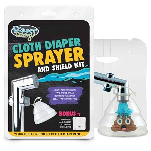 Diaper Dawgs Cold Water Cloth Diaper Sprayer with Germ Shield and Gusset/Wringing Pad