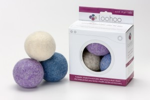 LooHoo Wool Dryer Balls 3pk in RETAIL packaging