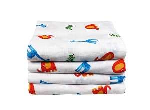 Imse Vimse Muslin Squares pack of 4  - Print 85x85cm