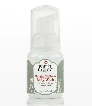 Earth Mama Organics Morning Wellness Body Wash TRAVEL Size  1.67 fl. oz.