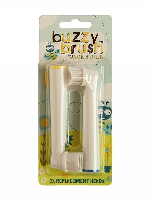 Jack N' Jill NEW Buzzy Brush Replacement Heads - 2 Pack (Not compatible with the Original Buzzy Brush!)